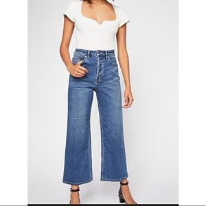 Free people WALES high-rise button fly jea…
